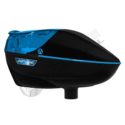 Virtue Paintball Spire 260 Electronic Loader - Black/Cyan
