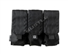 Tiberius Arms EXO Molle Pouch - Double Triple Magazine - Black