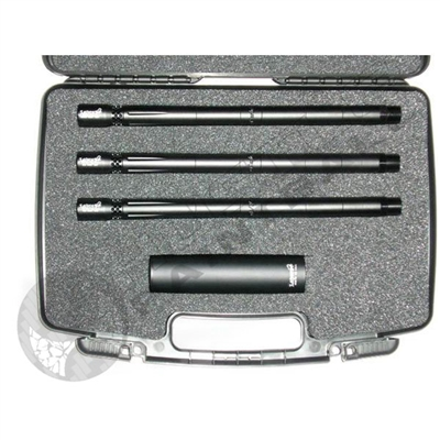Lapco AccuShot 3 Barrel Kit with Case and Universal Fake Suppressor - Autococker - 0.690, 0.687, 0.684 - 14 inch - Bead Blasted Black