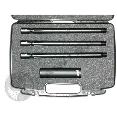 Lapco AccuShot 3 Barrel Kit with Case and Universal Fake Suppressor - Spyder - 0.690, 0.687, 0.684 - 14 inch - Bead Blasted Black
