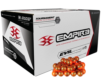 Empire Ultra Evil Paintballs - Case of 2000 - Silver Shell/Yellow Fill