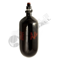 Ninja Paintball 90 cu 4500 psi ''SL'' Carbon Fiber HPA Tank - Super Light - Black