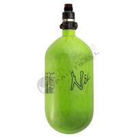 Ninja Paintball 77 cu 4500 psi ''SL'' Carbon Fiber HPA Tank - Super Light - Lime Green