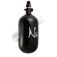 Ninja Paintball 77 cu 4500 psi ''SL'' Carbon Fiber HPA Tank - Super Light - Black w/ White Logo