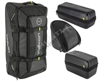 Valken Phantom Paintball Rolling Gear Bag/Google Case/Loader Case & Tank Case Combo Kit