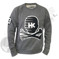 HK Army Crew Neck Sweater - Mr. H - Warped - Grey