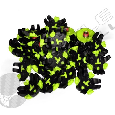 Exalt Paintball TRX Cleat Replacement Set (22 per bag) - Turf Spike - White/Black