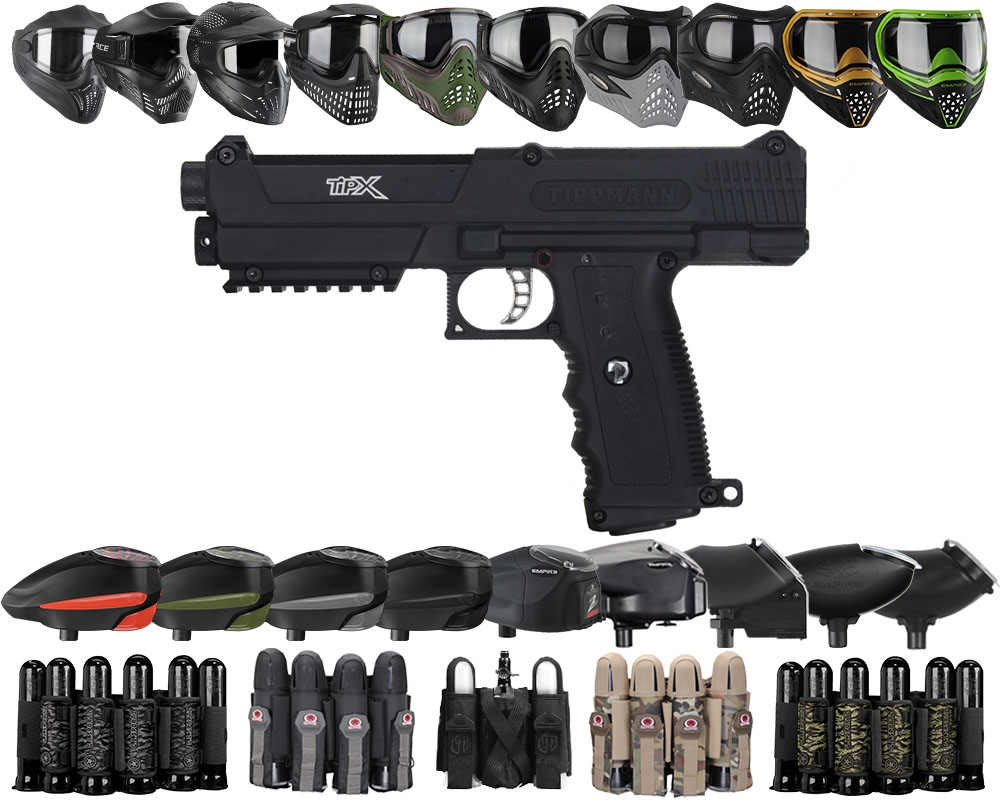 Build Your Own Gun Combo - Tippmann TiPX Pistol (includes case and 2  magazines) - Black