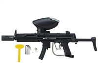 Empire Battle Tested Delta Elite Black Paintball Gun with E-Frame/Rip Clip/Apex