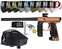 Empire Mini GS Paintball Gun, EVS Googles & Z2 Paintball Loader Combo Kit