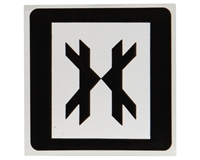 HK Army Sticker - Square - Black/White
