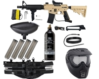 Tippmann - US Army Alpha Black Elite Tactical - Foxtrot Paintball Marker Package - Tan