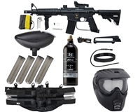 Tippmann US Army Alpha Black Elite Tactical Foxtrot Paintball Marker Package - Black