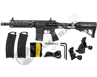 Tippmann MagFed TMC w/ Collapsible Air Thru Paintball Gun - Black/Black