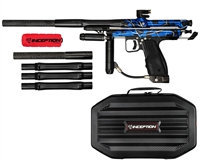 Inception Designs Retro FLE Autococker Marker - Blue Splash