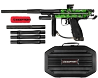 Inception Designs Retro FLE Autococker Paintball Marker- Green Splash