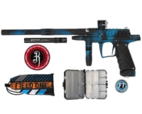 Field One/Bob Long Ripper G6R Intimidator Paintball Marker - Teal/Black Acid Wash
