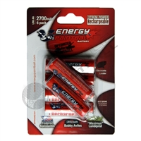 Energy Paintball AA Rechargeable Batteries - 270 mha (6-pack)
