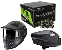 Empire Halo Too, JT Premise Headshield & Empire Marballizer 2,000 Round Paintball Case Package