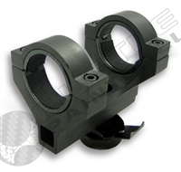 NCStar 30mm Ring Mount Short 2.50in Single Piece w/ 1in ring inserts - AR-15/M-16 Carry Handle