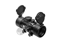 NCStar Armored 1X45 T Style Red Dot Scope - Black Aluminum - Weaver/Picatinny (DTB145)