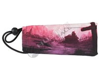 Kohn Sports Barrel Cover - Mitul Mistry Signature Series - Apoc Radar - Red Sunrise