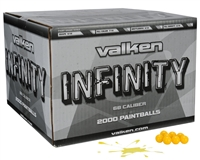 Valken Infinity Rec-Ball Grade Paintballs - Case of 1000 - Yellow Fill