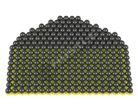 250 First Strike Paintballs - Dark Grey/Yellow Shell - Yellow Fill