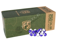250 First Strike Paintballs (Ultra-Sphere Projectiles) - Purple/Clear Shell - White Fill