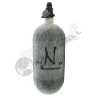 Ninja Paintball 90 cu 4500 psi Carbon Fiber HPA Tank - Grey Ghost