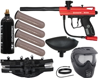 Kingman Spyder Victor Epic Paintball Gun Package - Gloss Red