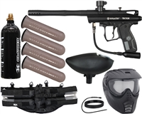 Kingman Spyder Victor Epic Paintball Marker Package - Diamond Black