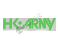 HK Army Sticker - ''HK Army'' Typeface - Lime - 15 inch