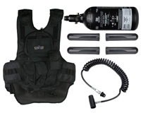 Gen X Global Tactical Vest with 4+2+1 Pack, Remote & Empire 47 cu 3000 psi Tank
