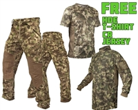 Planet Eclipse Elite Pants w/ FREE Combat Ready Jersey and T-Shirt Combo - HDE Camo
