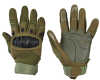 Warrior Paintball Full Finger Gloves - Carbon Knuckle - Olive