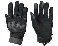 Warrior Paintball Full Finger Gloves - Flex Knuckle - Black