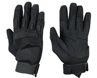 Warrior Paintball Full Finger Gloves - Padded - Black