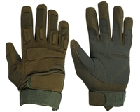 Warrior Paintball Full Finger Gloves - Padded - Olive