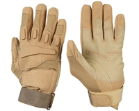 Warrior Paintball Full Finger Gloves - Padded - Tan