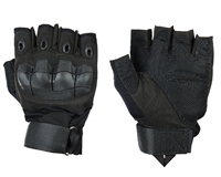 Warrior Paintball Half Finger Gloves - Flex Knuckle - Black