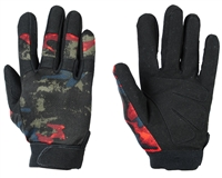 Warrior Paintball Gloves - Tournament - Acid Red