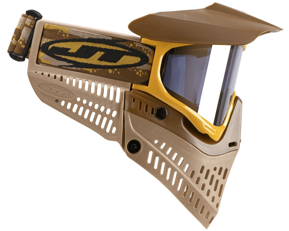 Brown JT Proflex Frame Mask Goggle Spectra Flex Paintball New