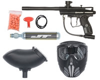 Kingman Spyder Aggressor Ready 2 Play Paintball Marker Package - Black