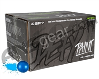 D3FY Sports Paintballs Level 1 Practice .68 Caliber Paintballs - 2,000 Rounds - Blue Shell Blue Fill