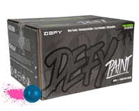 D3FY Sports Paintballs Level 1 Practice .68 Caliber Paintballs - 2,000 Rounds - Blue Shell Pink Fill