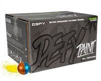 D3FY Sports Paintballs Level 1 Practice .68 Caliber Paintballs - 100 Rounds - Copper/Blue Shell Yellow Fill