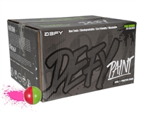D3FY Sports Paintballs Level 1 Practice .68 Caliber Paintballs - 100 Rounds - Light Green/Pink Shell Pink Fill