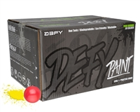 D3FY Sports Paintballs Level 1 Practice .68 Caliber Paintballs - 100 Rounds - Pink Shell Yellow Fill