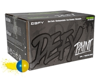 D3FY Sports Paintballs Level 1 Practice .68 Caliber Paintballs - 2,000 Rounds - Yellow/Blue Shell Yellow Fill